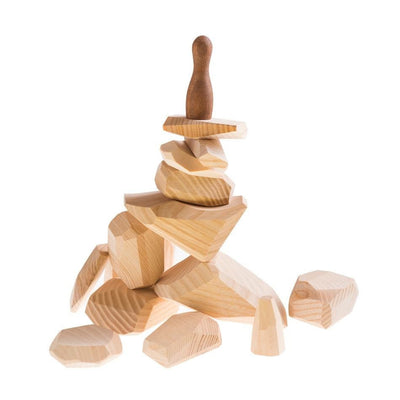 Wooden Stackable Balancing Rocks - Light (Arriving May)