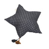 Muslin Star Pillow Large - Graphite Checker