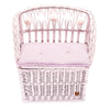Wicker Seat With Trunk - Dusty Pink