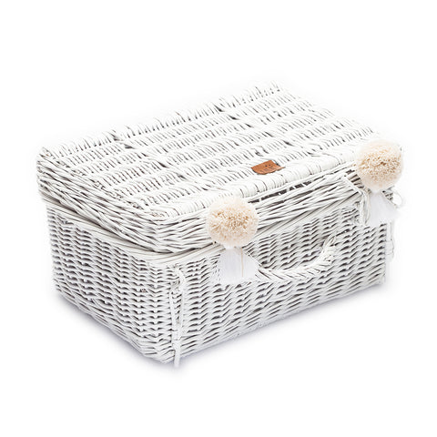 Wicker Suitcase - White