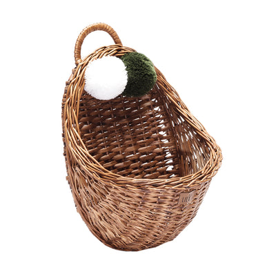 Natural Wicker Wall Basket