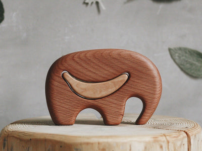 Wooden Mini Elephant Puzzle - Elmer (Arriving June)