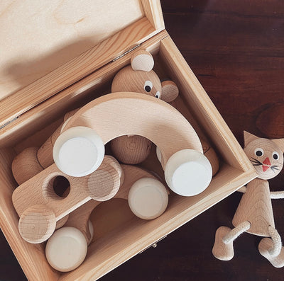 Wooden Push Along Toy - Archie