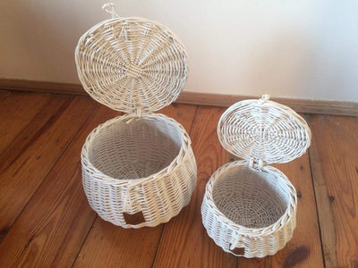 Wicker Basket Large - White (Arriving January 2019)