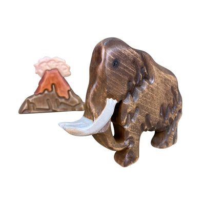 Wooden Woolly Mammoth