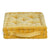 Quilted Square Velvet Luxe Floor Cushion - Mustard