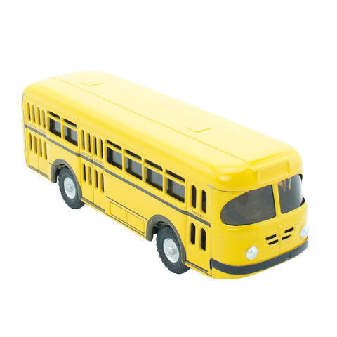 Retro Yellow School Bus Toy - Happy Go Ducky