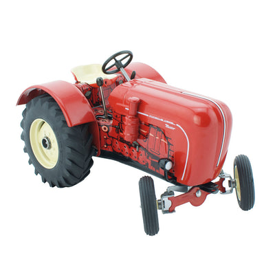 Red Porsche Tin Toy Tractor - Happy Go Ducky