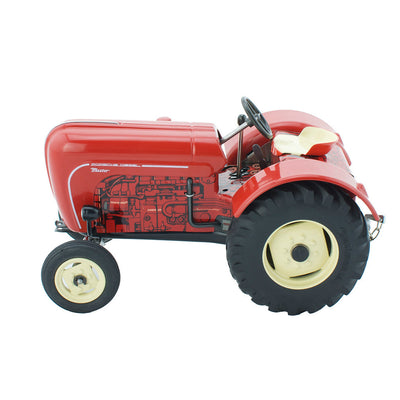 Wind Up Tin Toy Porsche Tractor