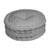 Quilted Round Floor Cushion - Ash Grey