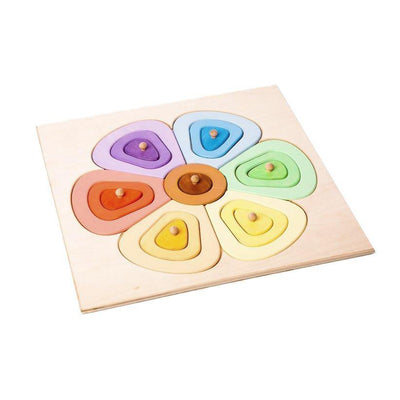 Colourful Wooden Flower Puzzle