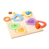 coloured wooden puzzle flower