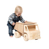 Toddler Playing With Large Wooden Toy Dump Truck
