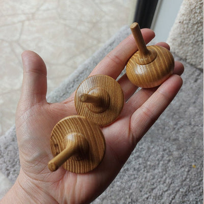 Wooden Spinning Top - Fir Tree