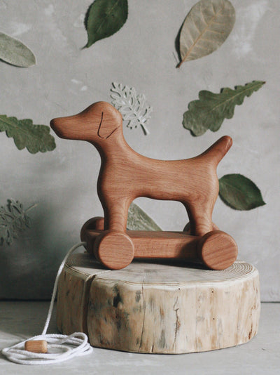Wooden Pull Along Dog - Marcellus (Arriving Dec)