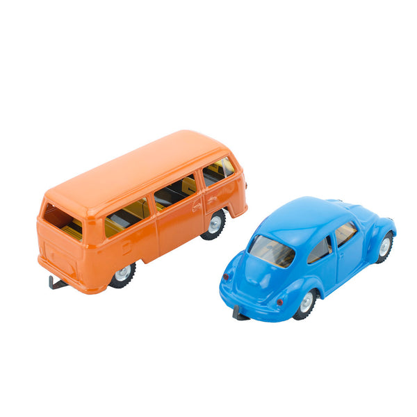 Wind Up Tin Toy Set - VW Beetle & Kombi