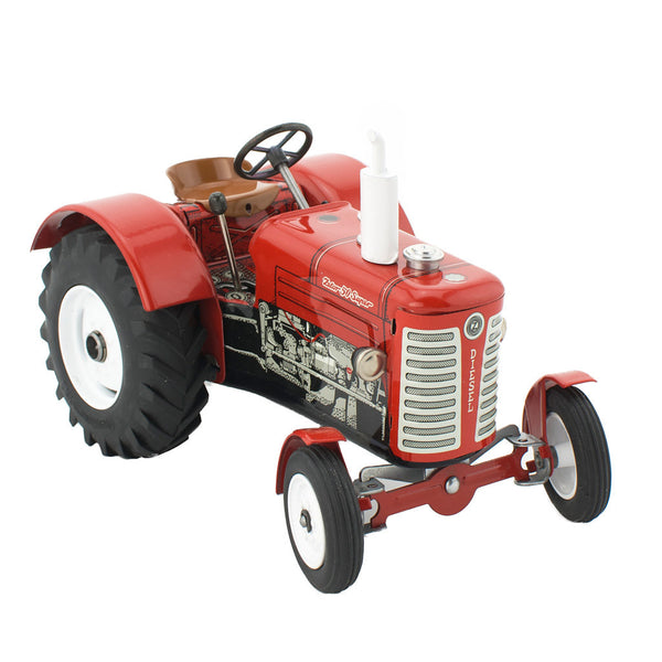 Red Tin Toy Farm Tractor - Happy Go Ducky