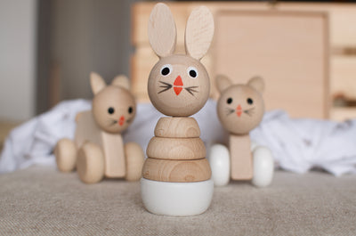 Wooden Rabbit Stacking Puzzle