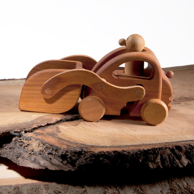 Harland the wooden front loader toy