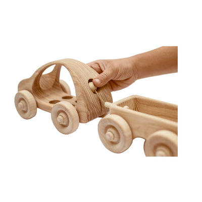 Toy Wooden Car with 4 Passengers