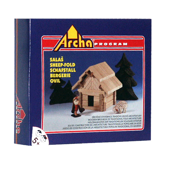 Wooden Building Puzzle - The Hut