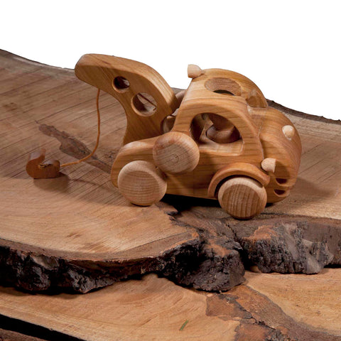 Wooden Toy Tow Truck | Happy Go Ducky