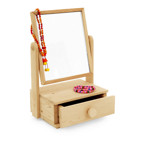 Wooden Dressing Table Mirror for Kids - Happy Go Ducky Toys