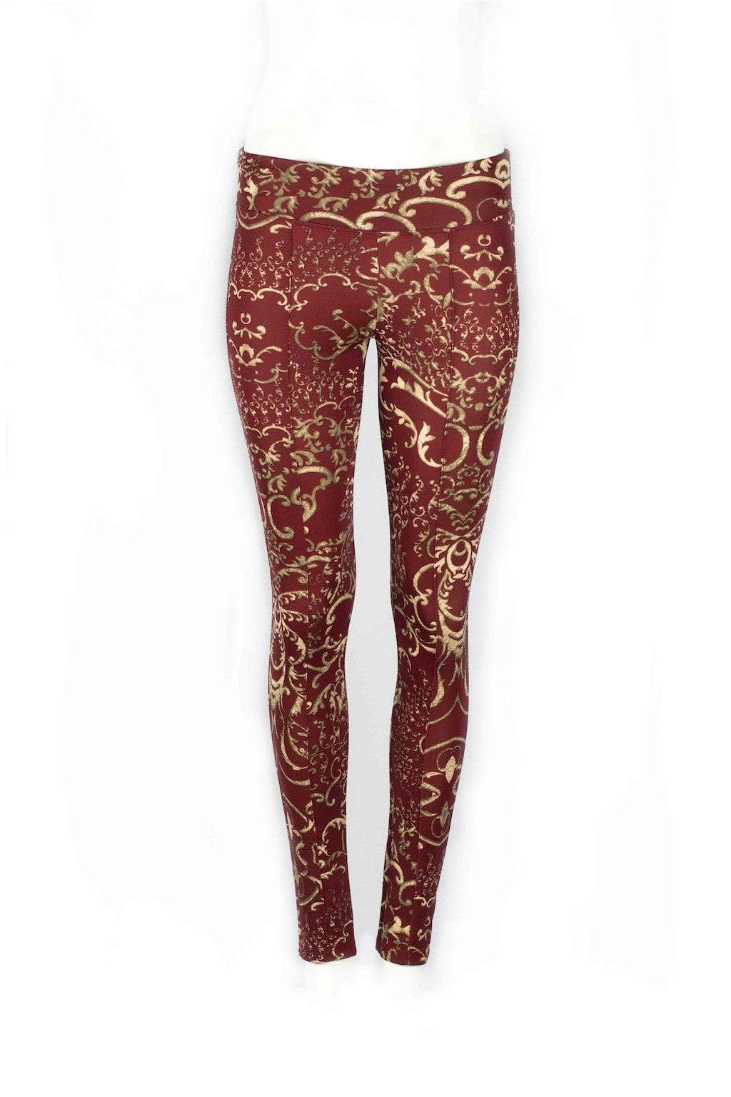 Mackenzie Golden Arabesque Fitted Scuba Pants - ANA MARIA KIM  - 5