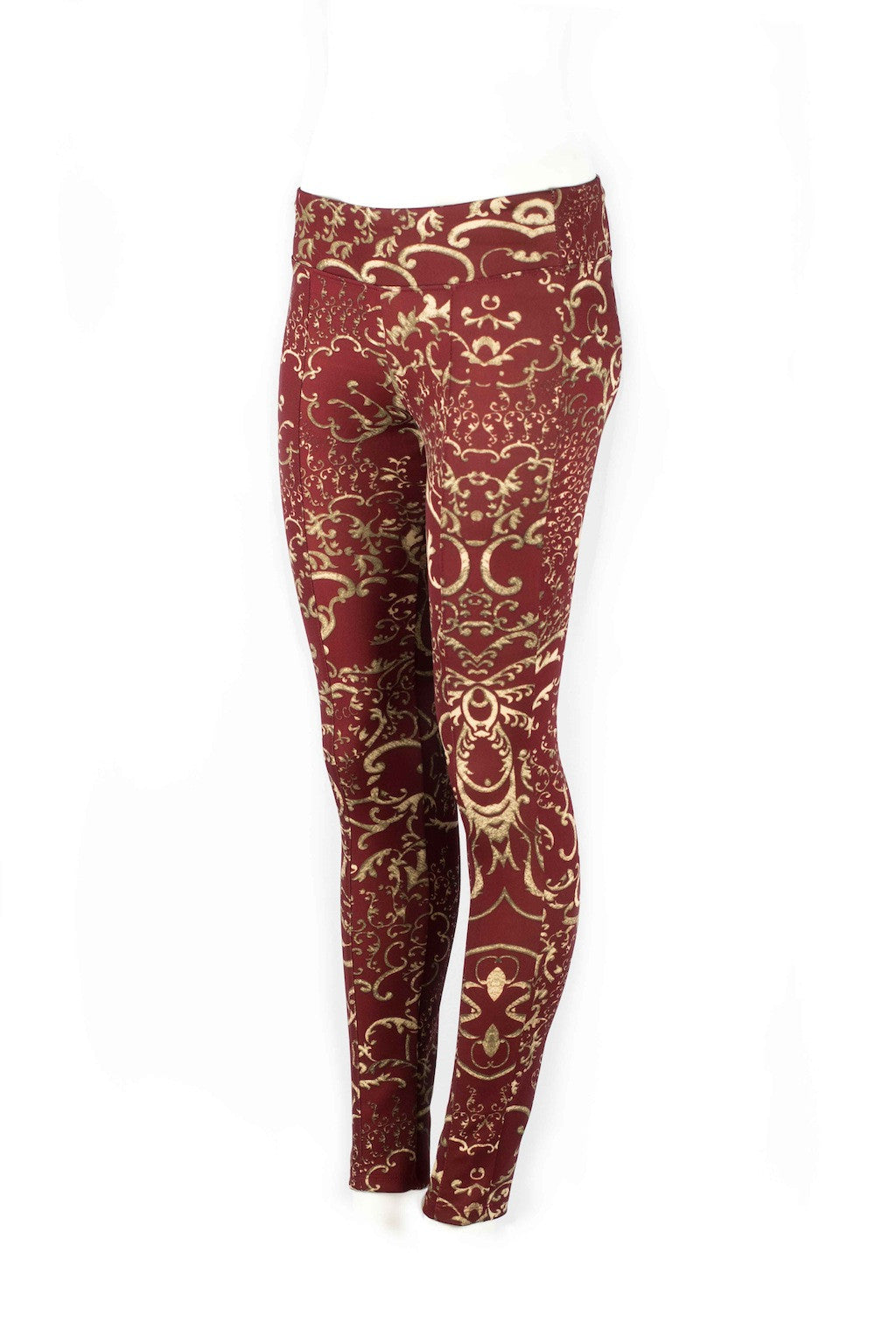 Mackenzie Golden Arabesque Fitted Scuba Pants - ANA MARIA KIM  - 7