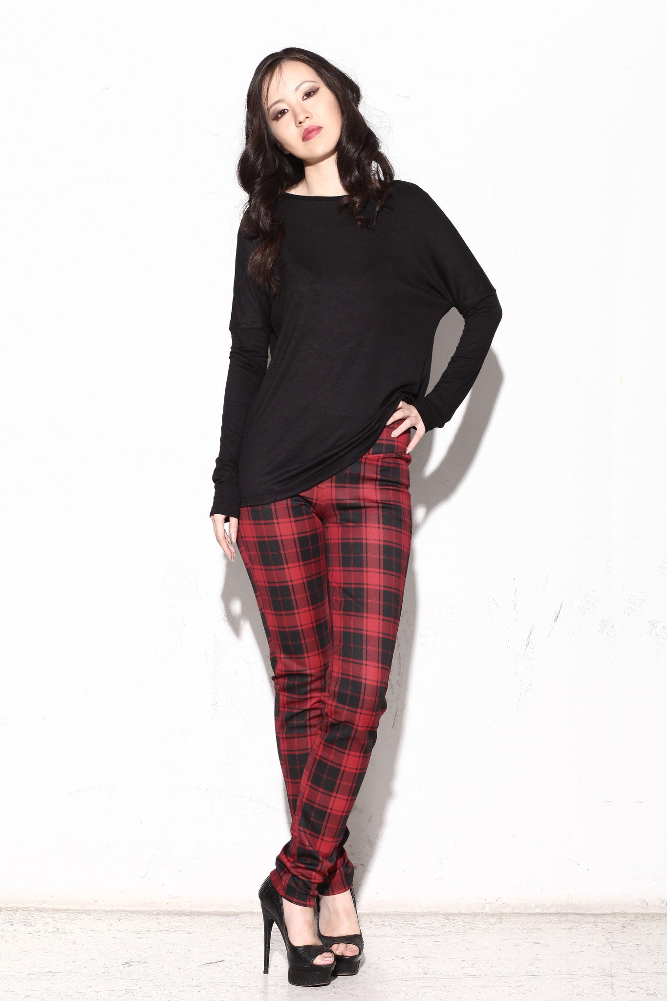 Aubrey Plaid Fitted Pants - ANA MARIA KIM  - 1
