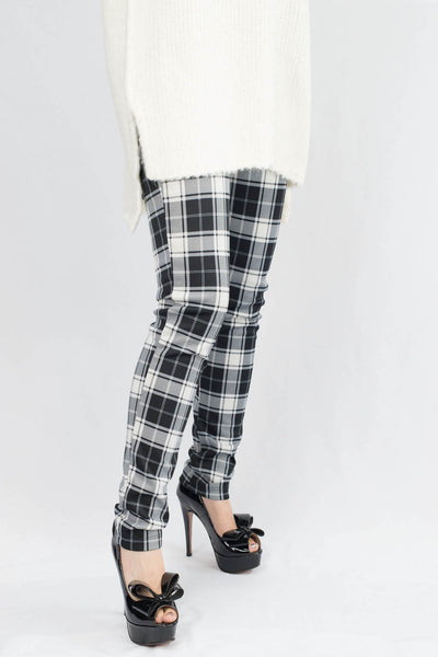 Madison Plaid Scuba Pants - ANA MARIA KIM  - 1