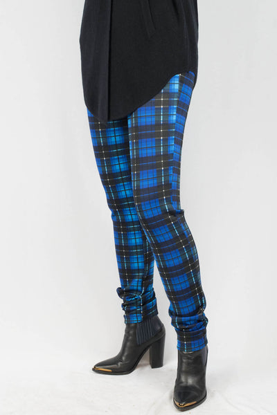 Zoe Plaid Scuba Pants - ANA MARIA KIM  - 1