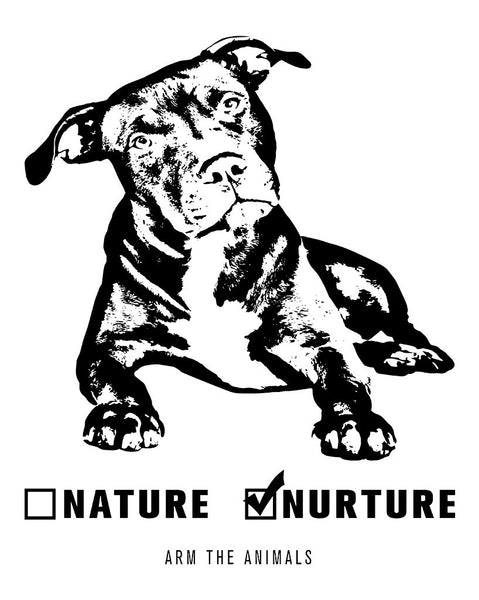 Men's | Nature vs. Nurture Pittie | Zip Hoodie