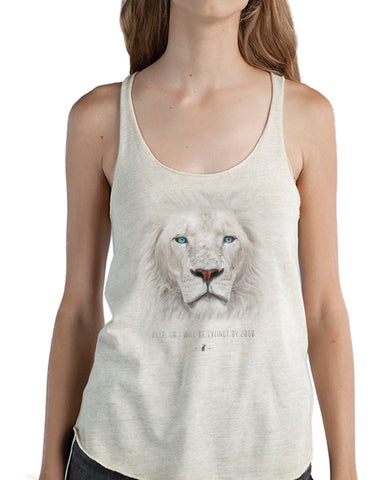 Women's | Fading Lion | Tri-Blend Racerback Tank Top