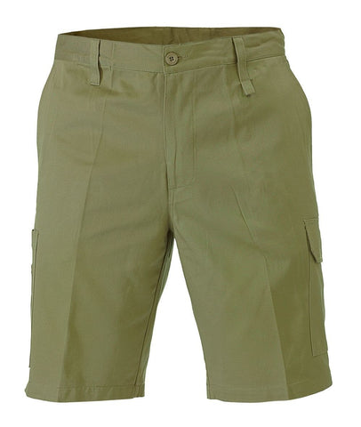 Bisley Cool Lightweight Utility Short-(BSH1999), Khaki / 107S, Work Shorts, Bisley Workwear,   - 1