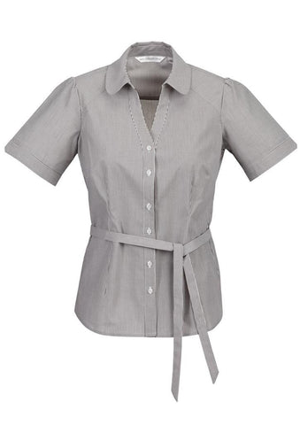 Biz Collection Ladies Berlin Y-Line Shirt (S261LS), Graphite / 12, Ladies Shirts, Biz Collection,   - 2