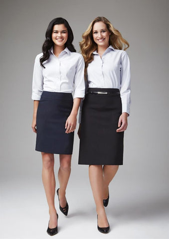 Biz Collection Ladies Classic Below Knee Skirt (BS29323 )