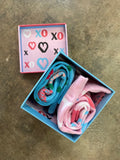 Roses and Hearts XO Socks - Gift Box