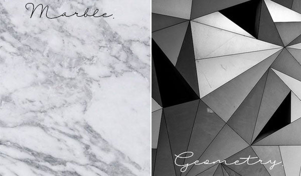 2016 Lighting Style Trends - Marble + Geometry