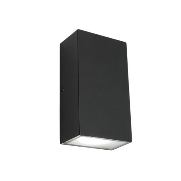 outdoor black up and down lights. mercator black square brenton up down led exterior light - lighting outdoor and lights d