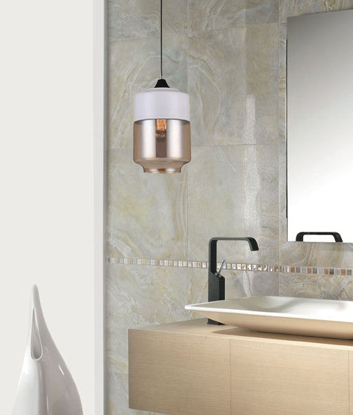 CLA White Amber Glass Jar Pendant Lights - Lighting Lighting Lighting