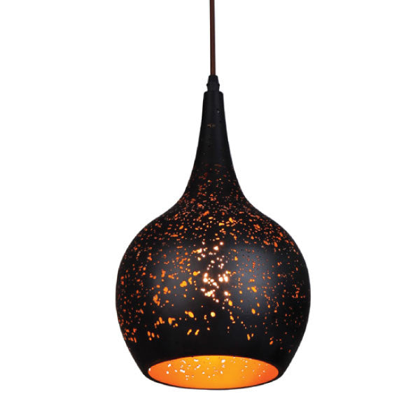 CLA Black Bell Pendant with Holes - Lighting Lighting Lighting