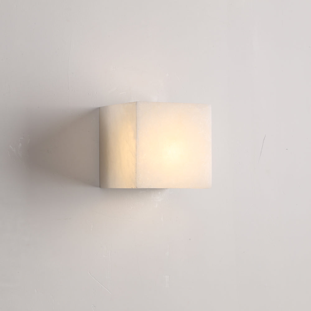 Cubo Alabaster Exterior Wall Light
