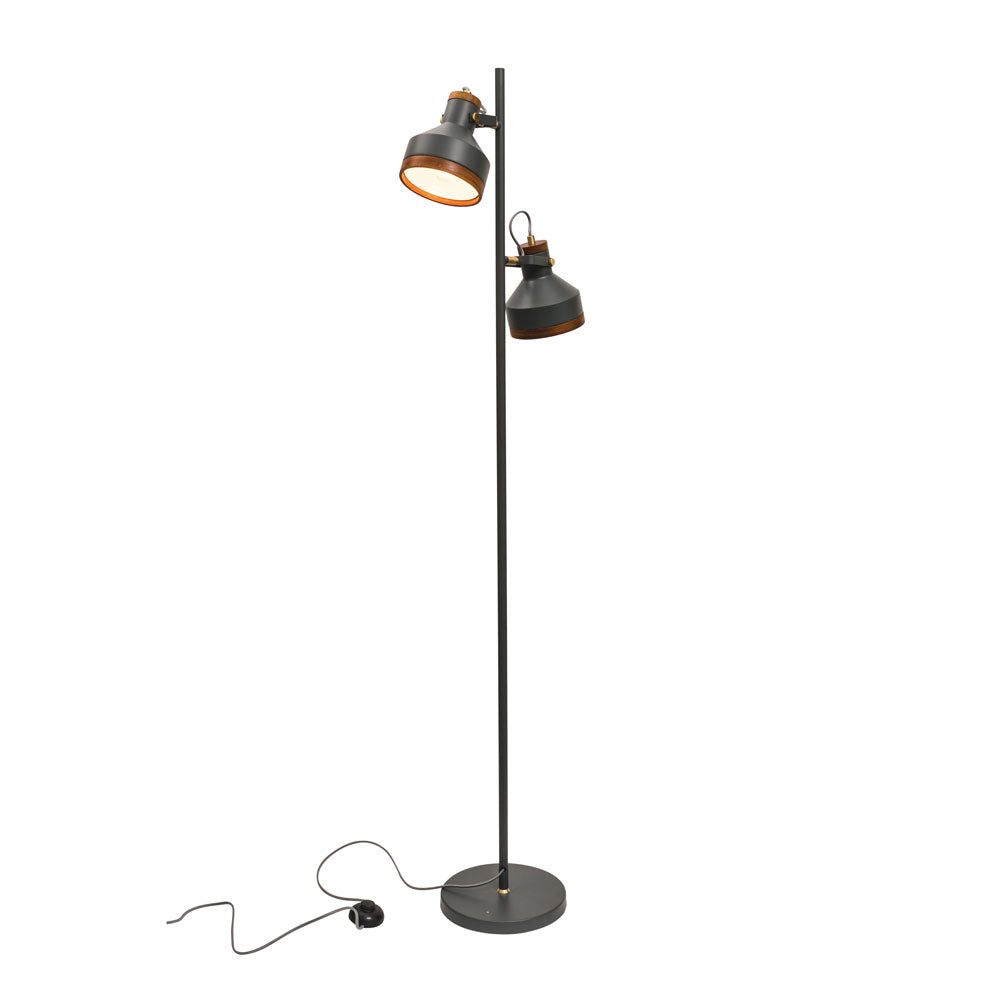 Clinton 2 Light Floor Lamp