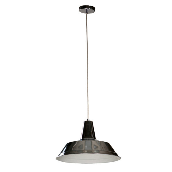 CLA Divo Chrome Metal Industrial Pendant - Lighting Lighting Lighting