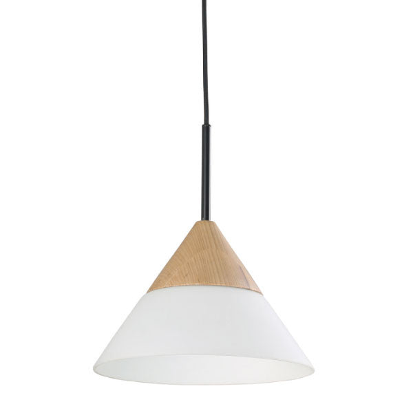 CLA White Timber Cone Finn Pendant - Lighting Lighting Lighting