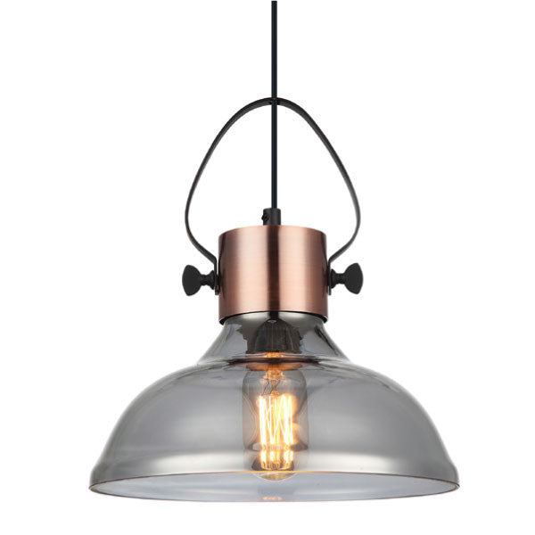 CLA Iron and Glass Industrial Fumoso Pendants - Lighting Lighting Lighting