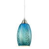 CLA Blue Hand Blown Glass Pendant - Lighting Lighting Lighting