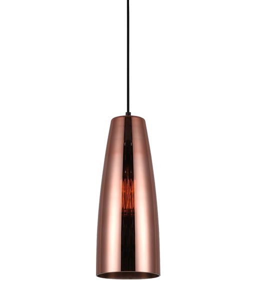 CLA Ellipse Copper Glass Lamina Pendant - Lighting Lighting Lighting