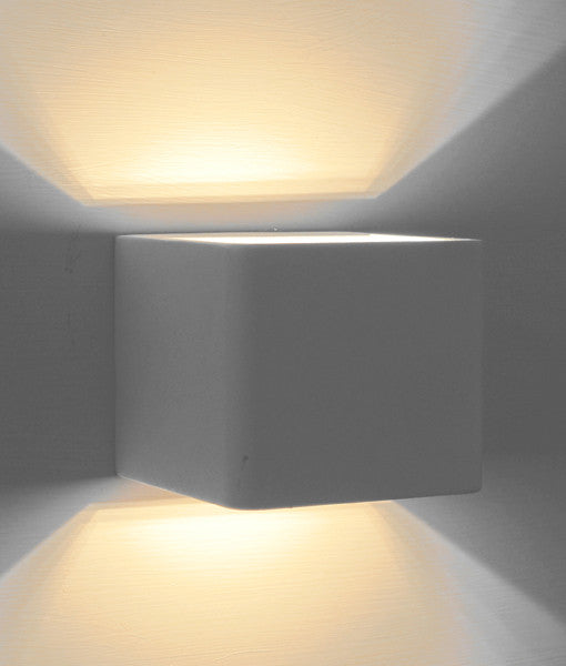 CLA White Square Cube Up Down LED London Interior Wall Light - Lighting Lighting Lighting